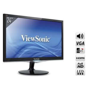 viewsonic ecran 24 full hd vga dvi hdmi hp 2ms vx2452mh pas cher achat vente moniteur pc. Black Bedroom Furniture Sets. Home Design Ideas