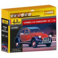 Heller - Maquette voiture : Kit complet : Citroën 2 Cv Charleston