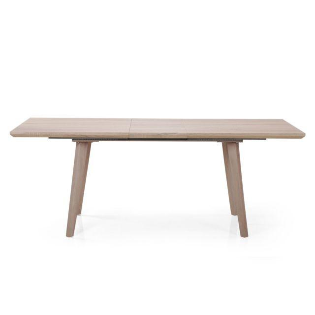 Scandinave Chêne Menzzo Clair 99cm Bobun Marron Table Extensible BredxWQCoE