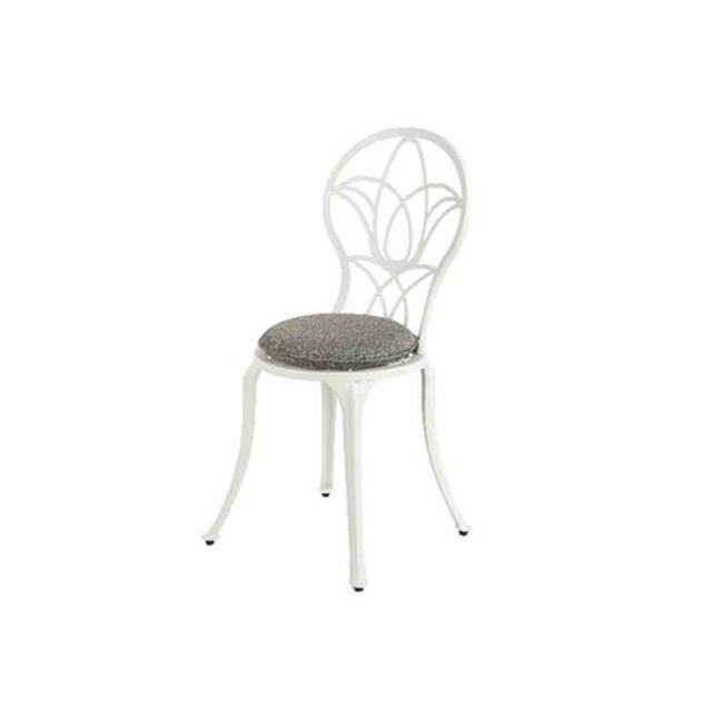 KAEMINGK Chaise de jardin bistro Saint-Tropez - blanc cassé