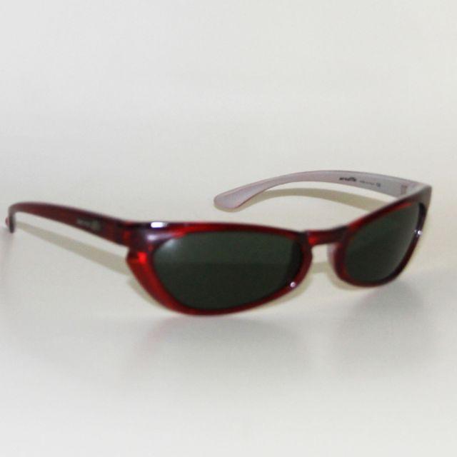 7d6737d4a2deb6 Arnette - Lunettes soleil vintage sunglasses Elgato Red silver Multicolore  - pas cher Achat   Vente Lunettes Tendance - RueDuCommerce