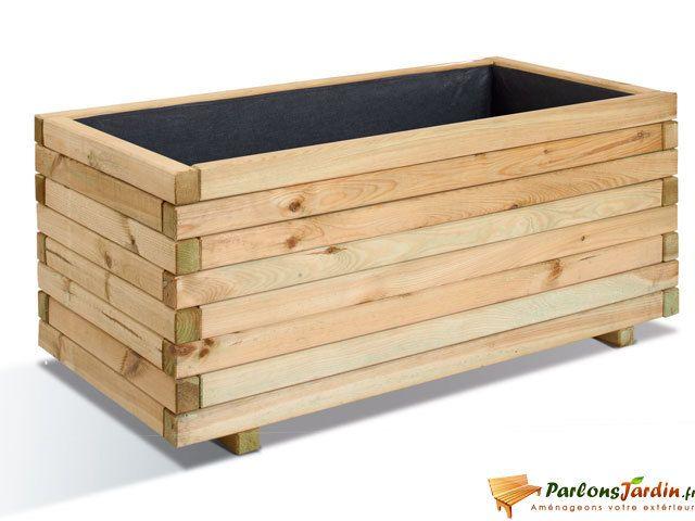 jardipolys jardini re rectangulaire en bois stockholm 100 pas cher achat vente poterie. Black Bedroom Furniture Sets. Home Design Ideas