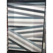 alya tapis tapis de salon dco pastel a rayures bleu crme - Tapis De Salon Bleu