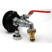 Multitanks - Raccord robinet en laiton chromé sortie raccord rapide