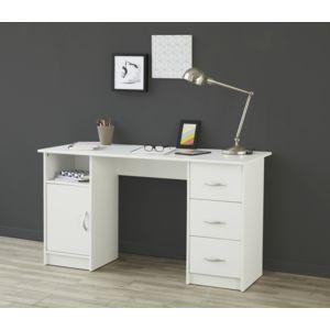 Soldes last meubles bureau learn blanc 135cm x 74cm x for Meuble bureau soldes