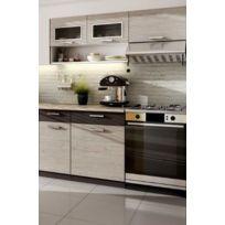 Baltic Meubles - Cuisine Topaze 1M60 / 4 meubles. En 4 coloris: noir chiné/érable/noyer ou chêne cendré