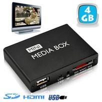 Yonis - Mini passerelle multimédia lecteur vidéo Hd 720p Hdmi Tv Sd Usb 4 Go