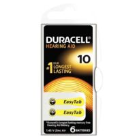 Duracell - Blister de 6 piles auditives easy tab 10
