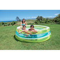 Intex - Piscine gonflable ronde pour enfant D203x51cm Swim Center