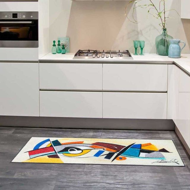 Un Amour De Tapis Tapis Cuisine Abstract Kitchen Kt Multicolore