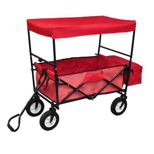 vidaxl chariot de transport main avec auvent pas cher achat vente chariots rueducommerce. Black Bedroom Furniture Sets. Home Design Ideas