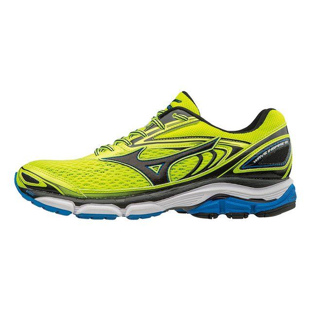 0f516f36cb7 Mizuno - Chaussures Wave Inspire 13 jaune bleu - pas cher Achat   Vente  Chaussures athlétisme - RueDuCommerce