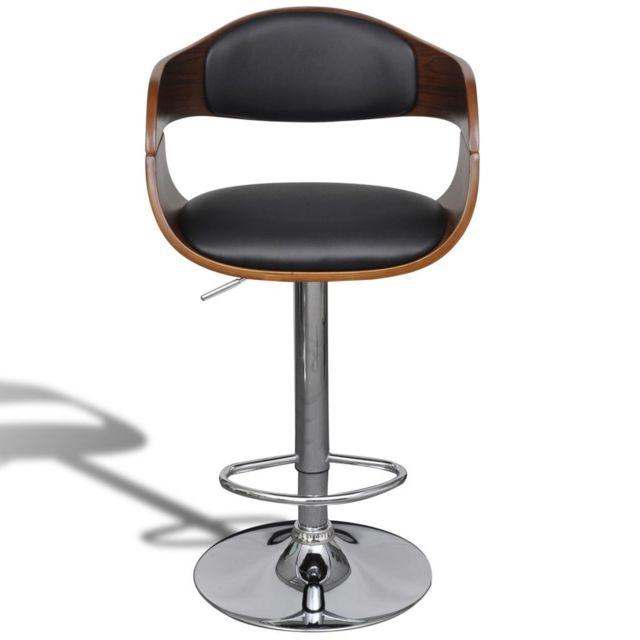 16eff6cbe2538 No Name - Tabourets et chaises de bar sublime Tabouret de bar Cuir  synthétique Hauteur réglable