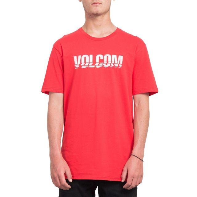Volcom - T-shirt Chopped Edge Rouge Homme