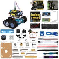 VIEW TEK - Viewtek KS0071 -Kit Robot Mini tank Arduino - Évitement d'obstacle à ultrason - Carte Uno R3 - Télécommande par Bluetooth via smartphone- Guide & 5 leçons/projets avec images et vidéo d'assemblage
