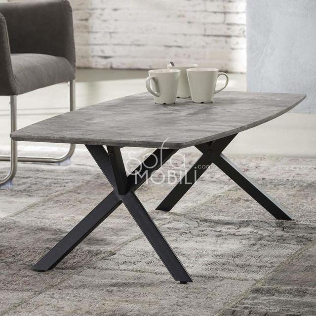 Sofamobili Table basse design effet béton Margo 2