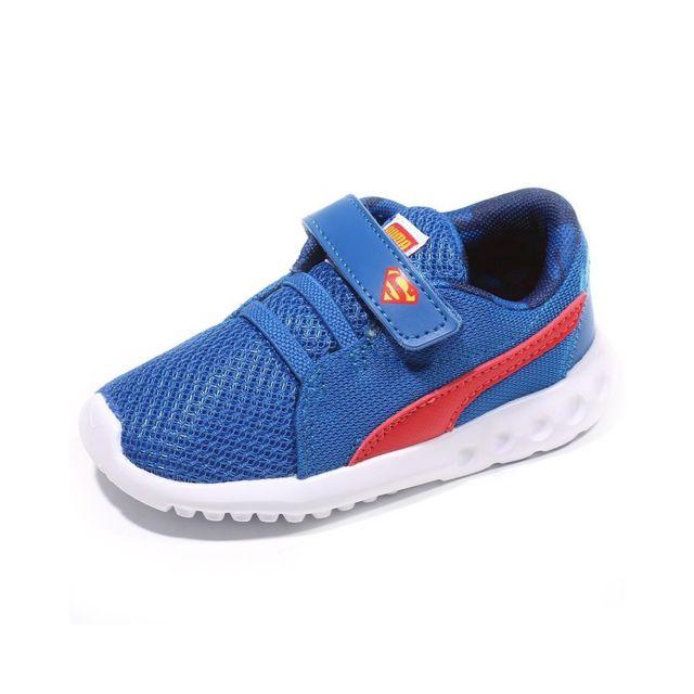 Puma Chaussures Carson 2 V Superman Bleu Bébé Garçon