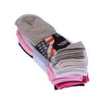Chaussettes de ski b/éb/é en bouclette acrylique et laine motif 1er flocon Thyo