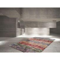 Deladeco - Tapis tissé main en laine feutrée multicolore Mellow