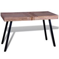 table teck interieur achat table teck interieur pas cher rue du commerce. Black Bedroom Furniture Sets. Home Design Ideas