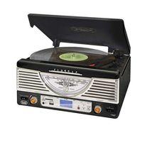 TREVI - TT-1062E Chaîne HiFi stereo vintage USB SD MP3 -noire