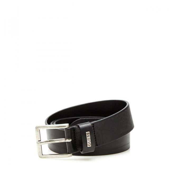 Guess - Ceinture Homme en cuir Metal Mini Logo Noir - pas cher Achat ... 898cd0c60ef