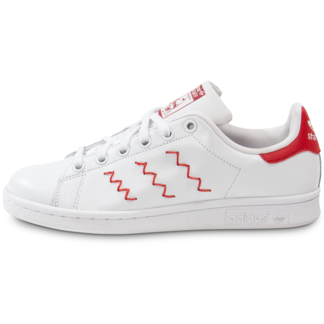 Adidas Originals Stan Smith Zigzag Blanche Et Rouge Tennis Femme