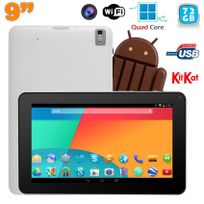 Yonis - Tablette tactile 9 pouces Android 4.4 Bluetooth Quad Core 72Go Blanc
