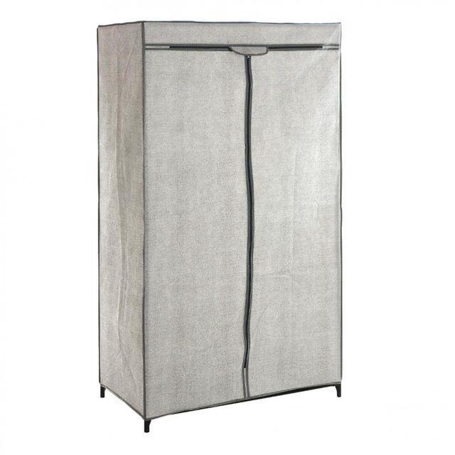 paris prix armoire penderie 156cm gris clair pas cher. Black Bedroom Furniture Sets. Home Design Ideas