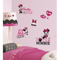 Toy Zany - RoomMates stickers muraux - Minnie loves pink