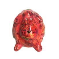 Funky Bears - Tirelire mouton Dolly rouge 13 cm