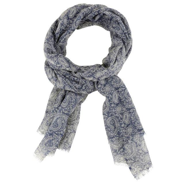Les Poulettes Bijoux - Echarpe 100% Laine Motif Cachemire Bleu Marine - pas  cher Achat   Vente Echarpes, foulards - RueDuCommerce 3855572633a