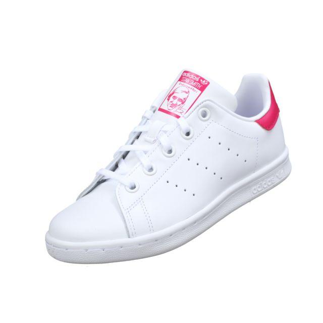 Adidas Stan Smith C Ba8377 BlancRose pas cher Achat