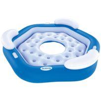 Best Way - Matelas gonflable plage piscine Bestway X3 island bleu Bleu 58191
