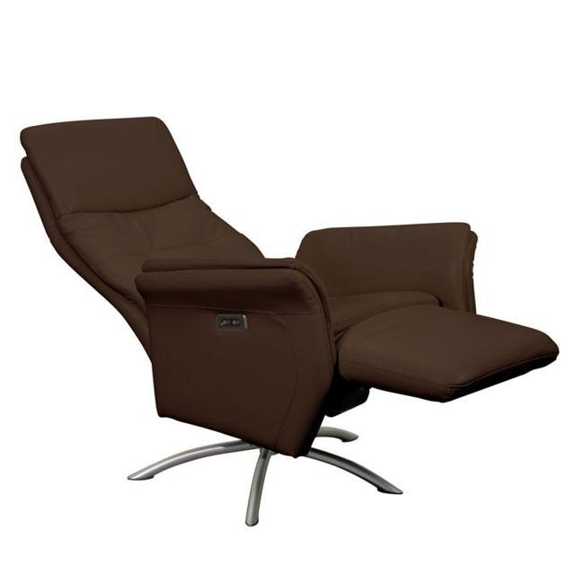 fauteuil palio cuir cro te cuir chocolat vendu par but 1180952. Black Bedroom Furniture Sets. Home Design Ideas