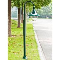 Rocambolesk - Superbe Lampadaire extérieur simple 120 cm vert Neuf