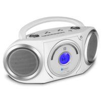 Soundmaster - Rcd5000WS Boombox Fm Cd Bluetooth Nfc Mp3 piles -blanc