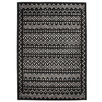 Mon Beau Tapis - Tapis motifs ethniques noir blanc 133x190cm Florence Ethno