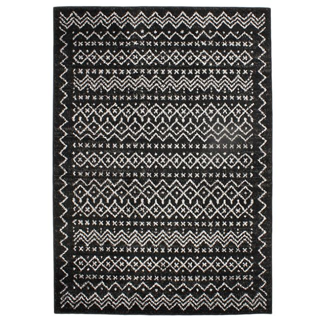 mon beau tapis tapis venise ethno 133x190 noir pas cher achat vente tapis rueducommerce. Black Bedroom Furniture Sets. Home Design Ideas