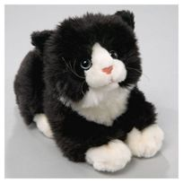 Carl Dick - Peluche chat noir-blanc avec son 20cm