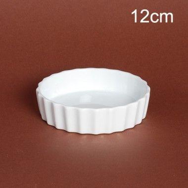 Porcelaine Blanche Lot de 6 moules à tartelette
