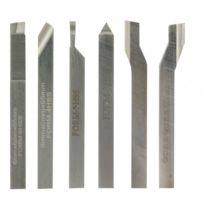 Proxxon - Jeu de 6 outils de tournage Hss/Co 6 x 6 x 60 mm, pour tour à bois Fd1 50/E