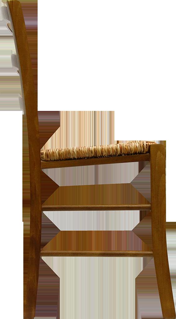 Chaise PAYSANNE - Hêtre FSG et paille de riz - Teinte chêne doré