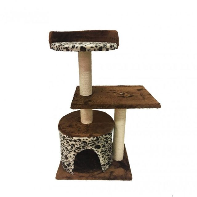 Mobili Rebecca - Grattoir Arbre à Chat Marron Beige Sisal Jeu Chat Animaux  Chaton 805756d36647