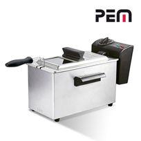 Pem - Friteuse à huile en inox avec filtre 2000W 3L avec cuve indépendante