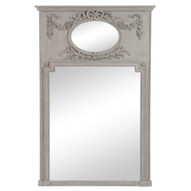 Jolipa 62754 Miroir Rectangulaire Bois Taupe 106 x 160 x 5 cm