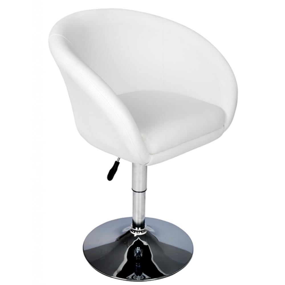 vidaxl fauteuil rond pivotant blanc pas cher achat vente tabourets rueducommerce. Black Bedroom Furniture Sets. Home Design Ideas