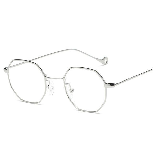 Wewoo - Lunettes verre blanc pour hommes femmes Octagonale Vintage Metal  Frame Uv400 lunettes de soleil f8c9573eb432