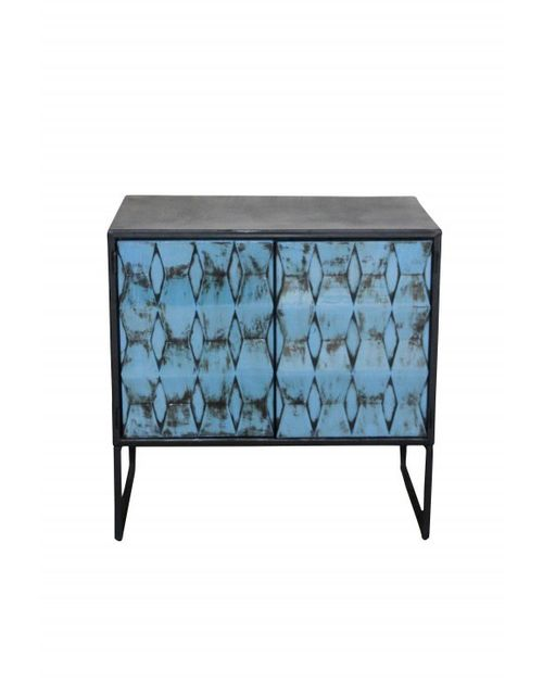 Decoshop Commode industrielle bleutée