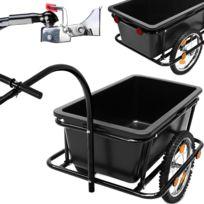 Rocambolesk - Superbe Remorque De Vélo Avec Barre D'Attelage - Poignées - Pneumatiques - 90 Litres Neuf